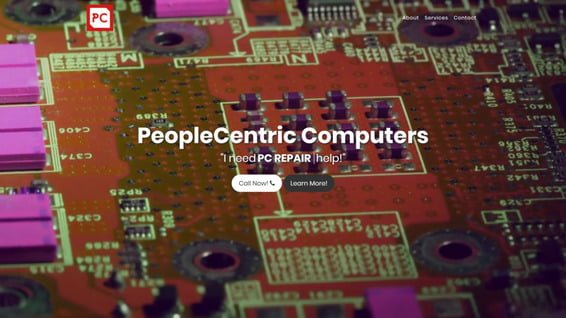 PeopleCentric Computer Website (Re) Design